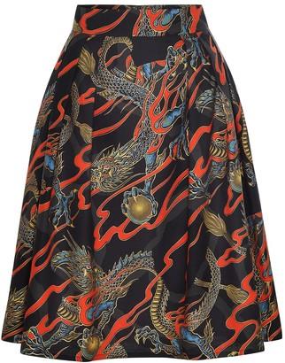 Marianna Déri Hanna Skirt Dragons Black