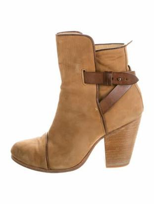 Rag & Bone Suede Leather Trim Embellishment Boots