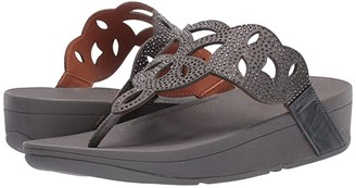 FitFlop Elora Crystal Toe Thong Sandal (Pewter) Women's Shoes