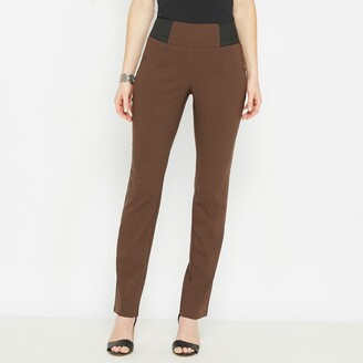 Anne Weyburn Smart Stretch Trousers with Elasticated Waist, Length 30.5""