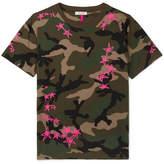 Valentino + Zandra Rhodes Camouflage-Print Cotton-Jersey T-Shirt