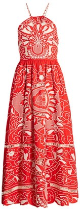 RED Valentino Poplin Embroidered Dress
