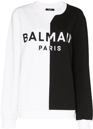 Balmain Split Design Logo Sweatshirt