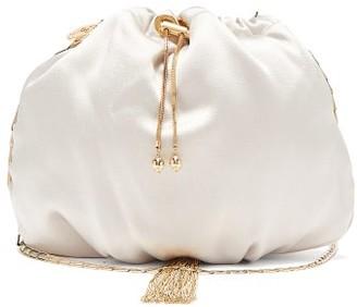 Rosantica Fatale Satin Drawstring Cross-body Bag - Light Grey