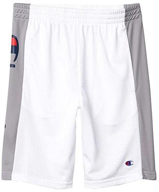 Champion Kids Script Mesh Shorts (Big Kids) (White) Boy's Shorts
