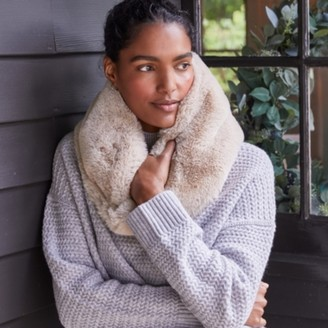 The White Company Faux-Fur Snood, Nude, One Size