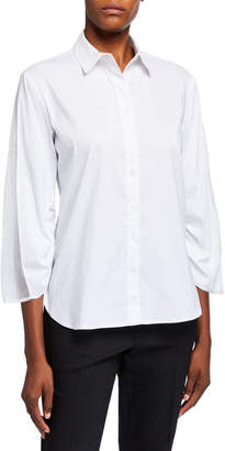 Finley Whitney Button Down Elastic Sleeve Top