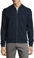 Original Penguin Paneled Knit Bomber Jacket, Dark Sapphire