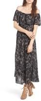 Hinge Women's Convertible Off The Shoulder Maxi Dress