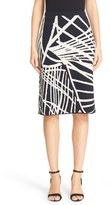 Lafayette 148 New York Spindled Jacquard Skirt