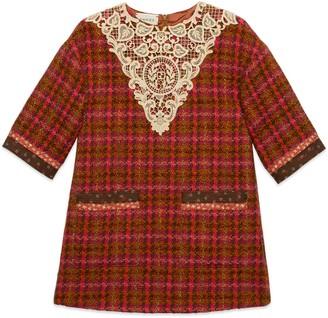 Gucci Children's tweed dress with macrame