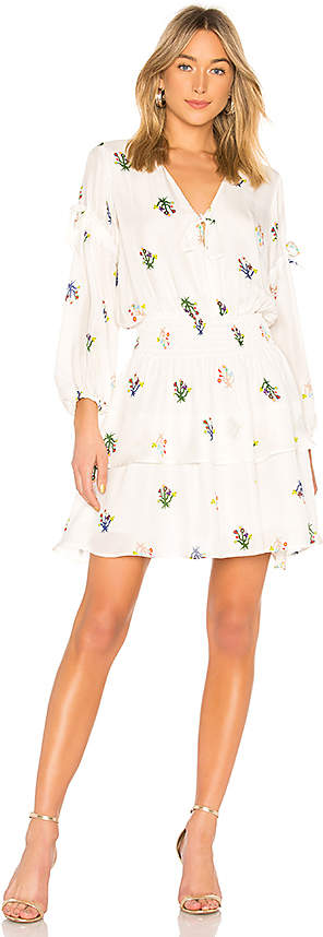 Cynthia Rowley Celia Smocked Mini Dress