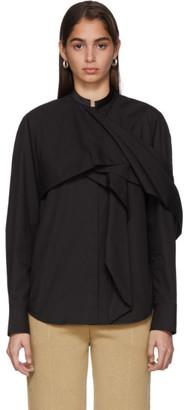 Haider Ackermann Black Byron Drape Shirt