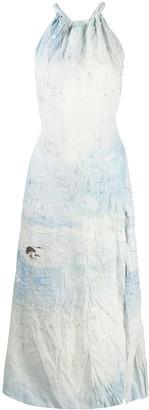 Acne Studios Embellished Landscape-Painting Dress