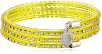 MARC BY MARC JACOBS Safety Yellow Slinky Bangle Bracelet 2.2''