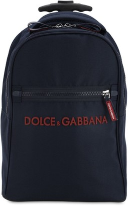 Dolce & Gabbana Nylon Canvas Rolling Backpack