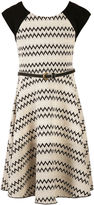 Speechless Short-Sleeve Chevron Skater Dress - Girls