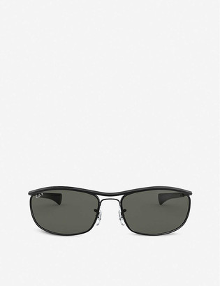 Ray-Ban RB3119M Olympian I Deluxe metal oval-frame sunglasses
