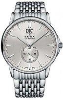 Edox Men's 64012 3M AIN Les Bemonts Analog Display Swiss Quartz Silver Watch