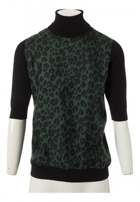 Louis Vuitton Green Silk Tops