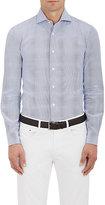 Barba Men's Striped Cotton Shirt-BLUE