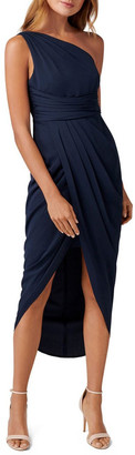 Forever New Petites Mandy Petite One Shoulder Drape Maxi Dress