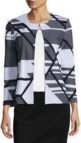 Ming Wang Abstract-Print Jacket, Multi