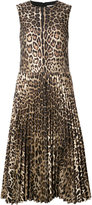 RED Valentino leopard print pleated dress - women - Cotton/Polyamide/Polyester - 38