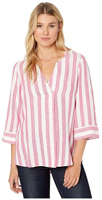 Tommy Bahama Light Stripes Tunic 3/4 Sleeve