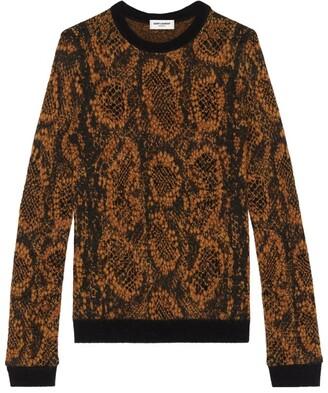 Saint Laurent Snake Print Sweater
