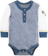Baby Henley Patch Organic Cotton Bodysuit