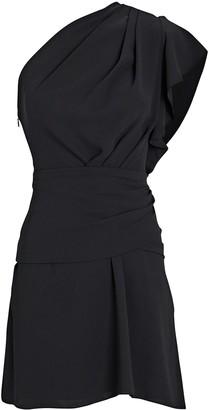 IRO Bonzac Draped One-Shoulder Dress