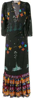 Jessie Western Star Print Wrap Dress