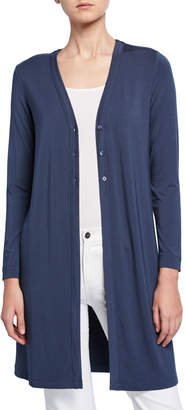 Nic+Zoe Ease Button-Front Long Cardigan