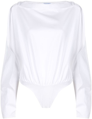 Thierry Mugler Dropped Shoulder Bodysuit