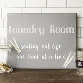 "Cathy's Concepts Cathys concepts Laundry Room"" Canvas Wall Art"