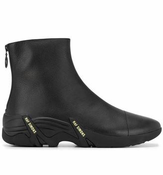 Raf Simons Black Leather Cyclon Ankle Boots