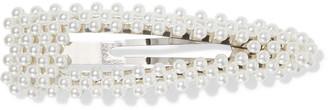 Ben-Amun Silver-tone Faux Pearl Hair Clip