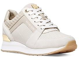 MICHAEL Michael Kors Women's Billie Lace Up Trainer Sneaekrs