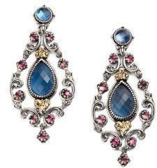 Konstantino Semi-Precious Multi-Stone Chandelier Earrings