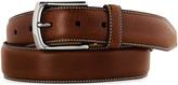 Johnston & Murphy Topstitched Leather Belt