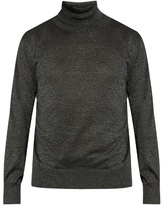 Jil Sander Roll-neck Metallic-knit Sweater