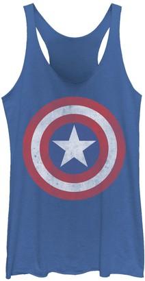 Marvel Juniors' Captain America Classic Shield Graphic Tank