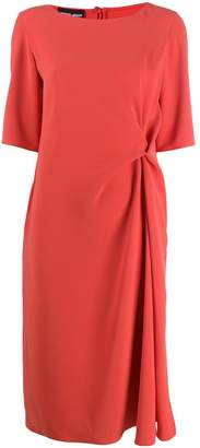 Giorgio Armani short-sleeve flared dress