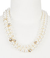 Anne Klein Faux-Pearl & Crystal Multi-Strand Collar Necklace