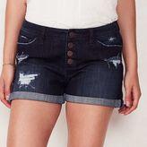 Lauren Conrad Women's Ripped Jean Shorts