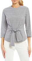 Antonio Melani Keely Striped Tie Front Blouse