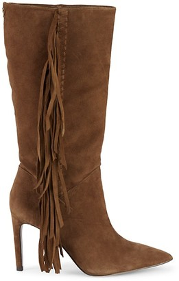 Sam Edelman Fayette Fringed Suede Mid-Calf Boots