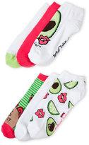 Betsey Johnson 6-Pack Low Cut Avocado Socks