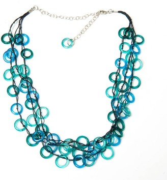 Sitara Collections Handmade Aqua Rings Necklace